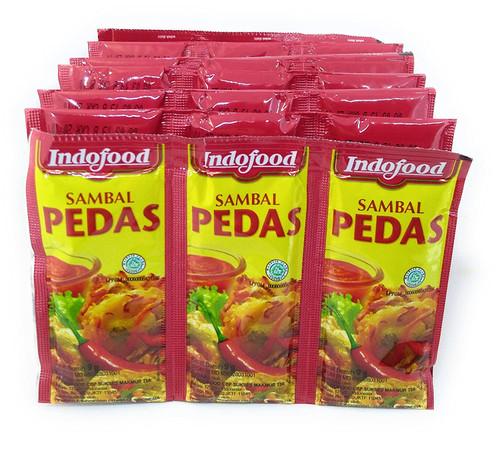 Indofood Sambal Pedas Hot Sauce - Single Pack, 9 Gram (36 sachets)