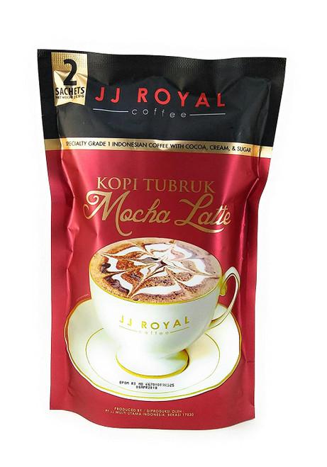 JJ Royal Kopi Tubruk Coffee Mocha Latte, 2 Sachets @ 30 Gram
