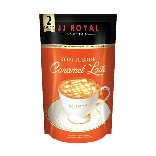 JJ Royal Kopi Tubruk Caramel Latte, 2 sachets @ 30 Gram