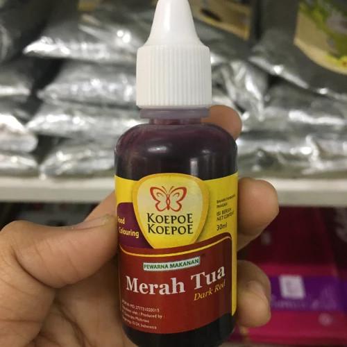 Koepoe-Koepoe Coloring Colouring Merah Tua (Dark Red Enhancer Paste), 30 ml