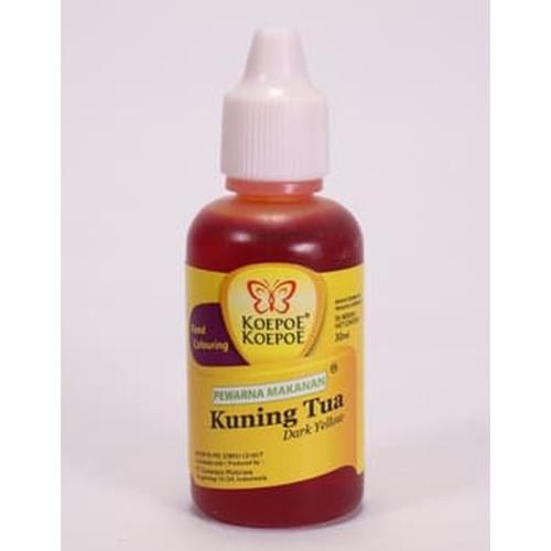 Koepoe-Koepoe Coloring Colouring Dark Yellow (Kuning Tua Enhancer Paste), 30 ml