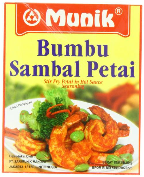 Munik Bumbu Sambal Petai Stir Fry Petai in Hot Sauce Seasoning , 90 gr