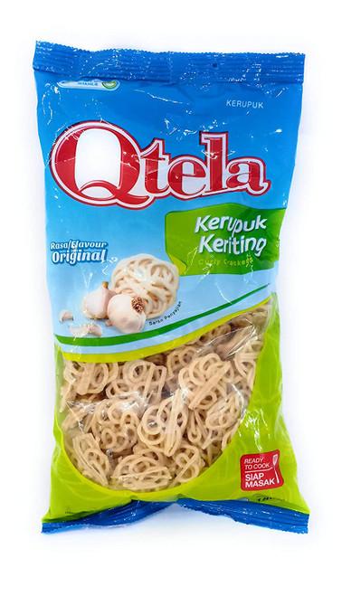 Qtela Kerupuk Keriting Original Crackers, 180 Gram