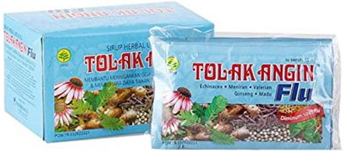 TOLAKANGIN FLU (Herbal Supplement to Counter Flu, Common Cold) -Box of 12 satchets, from Indonesia