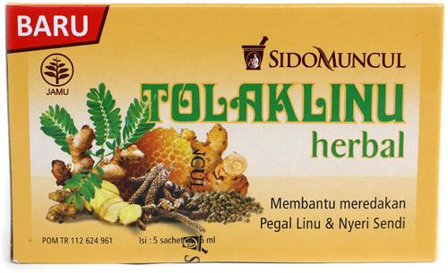Tolakangin sido muncul tolak linu herb 5-ct, 75ml / 2.5 fl oz