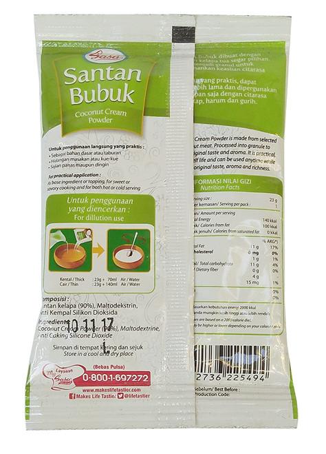 Sasa Santan Kelapa Bubuk - Coconut Cream Powder, 23 Gram/0.7 Oz (Pack of 10)