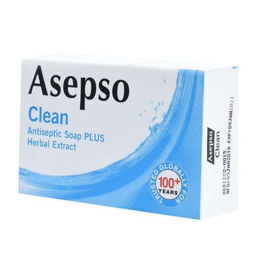 Asepso Clean Antiseptic Plus Herbal Extract, 80 g