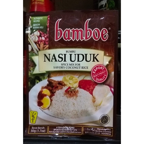 Bamboe Nasi Uduk - Savory Coconut Rice, 50gr (1.7 oz)