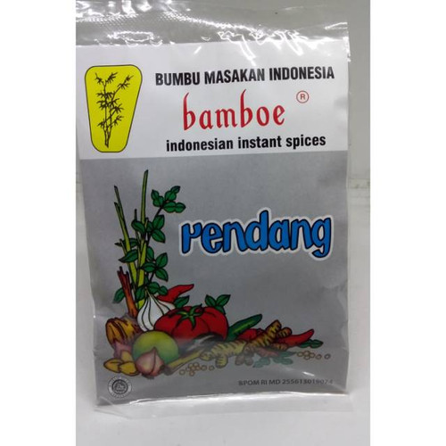 Bamboe Indonesian Instant Spices - Rendang (local packaging), 30 Gram