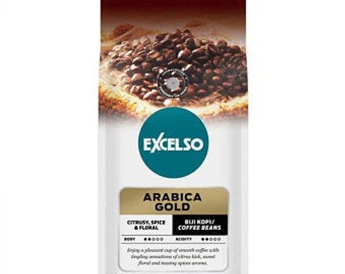 Excelso Arabica Gold - Coffe Beans, 200 Gram (Pouch)