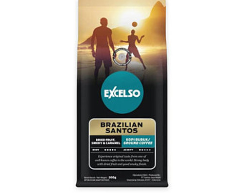Excelso Brazilian Santos - Ground Coffee, 200 Gram (Pouch)