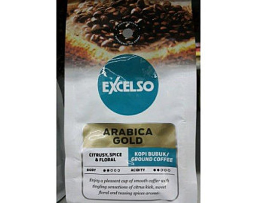 Excelso Arabica Gold - Ground Coffee, 200 Gram (Pouch)