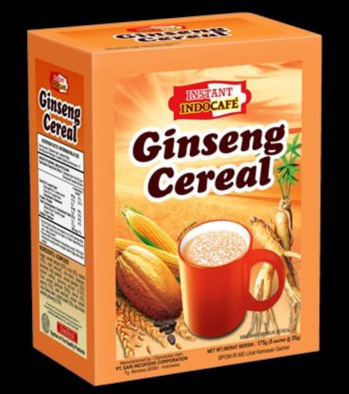 Indocafe Gingseng  Cereal Box of 5ct - 125 gr