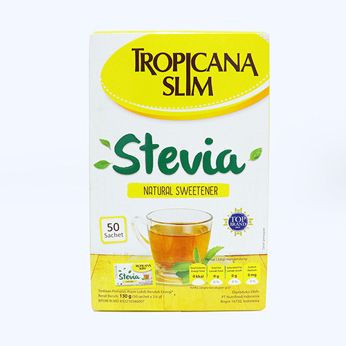 Tropicana Slim Stevia Natural Sweetener 50sachet - 130 gr