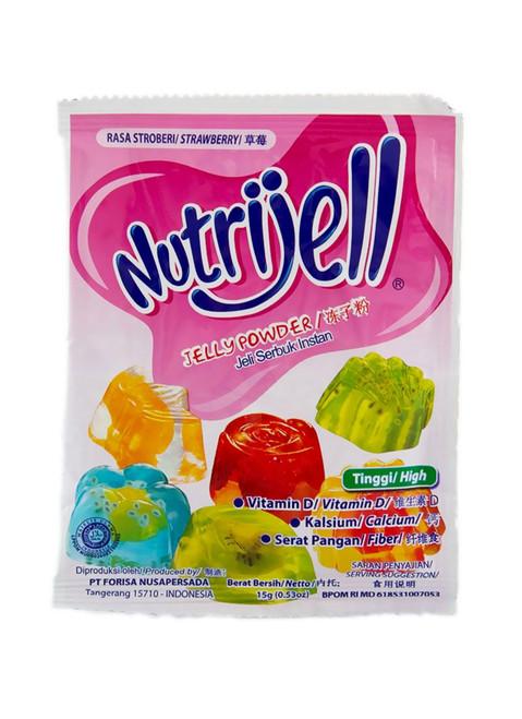 Nutrijell Konnyaku Jelly Powder Strawberry Stroberi 15G