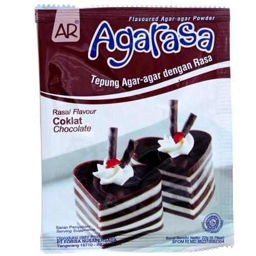 Nutrijell Agarasa Tepung Agar-agar Rasa Cokelat (Chocolate Flavoured Agar-agar Powder) 22 gr