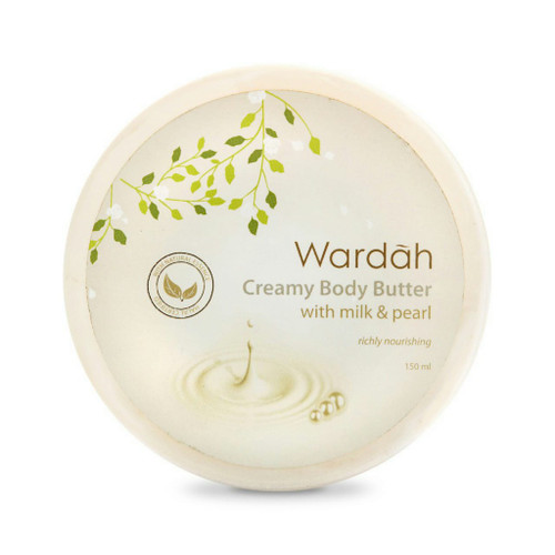 Wardah Creamy Body Butter with Milk and Pearl 150ml