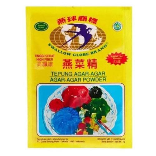 Bola Dunia Tepung Agar-Agar Powder Hijau Green 7gr