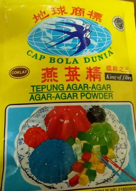 Bola Dunia Tepung Agar-Agar Powder Brown Coklat 7gr