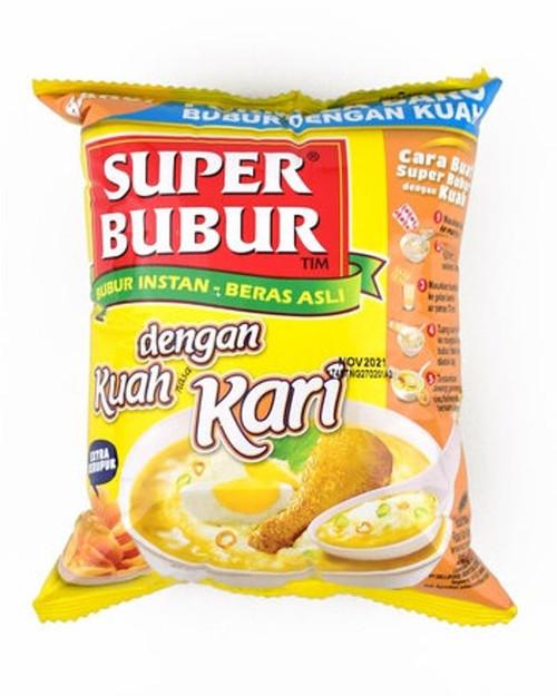 Super Bubur dengan Kuah Kari ( Delicious Instant Porridge with Curry Soup ), 46 gr - 1.62 Oz