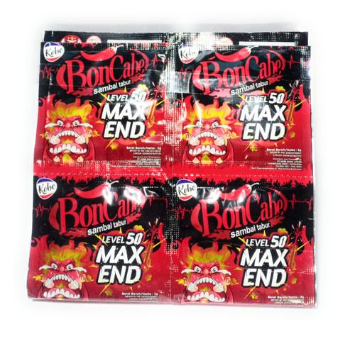 Kobe Bon Cabe (Boncabe) Sambal Tabur (Sprinkle Chili Flakes)Max End level 50, 3 Gram (24 sachets)