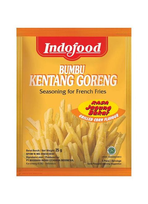 Indofood Bumbu Kentang Goreng Jagung Bakar ( Seasoning for French Fries Grilled Corn Flavour ) 0.88 Oz (25 gr)