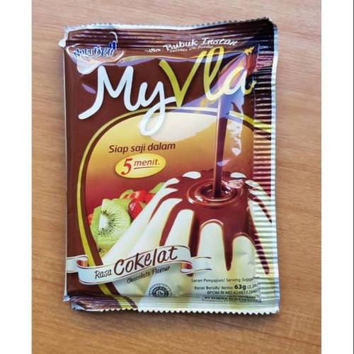 Nutrijell My Vla Bubuk Instan Vla Coklat ( Chocolate Flavour) 63gr - 2.22 oz
