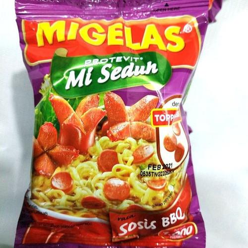 MIGELAS Protevit Mie Instant Rasa Sosis BBQ (BBQ Sausage Flavor) 28 gr