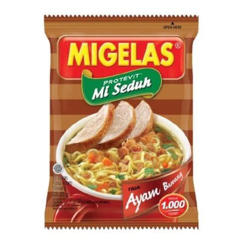 MIGELAS Protevit Mie Instant Rasa Ayam Bawang (Onion Chicken Flavor) 28 gr