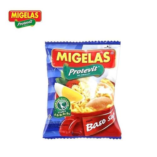 MIGELAS Protevit Mie Instant Rasa Baso Sapi (Beef Meatball Flavor) 28 gr