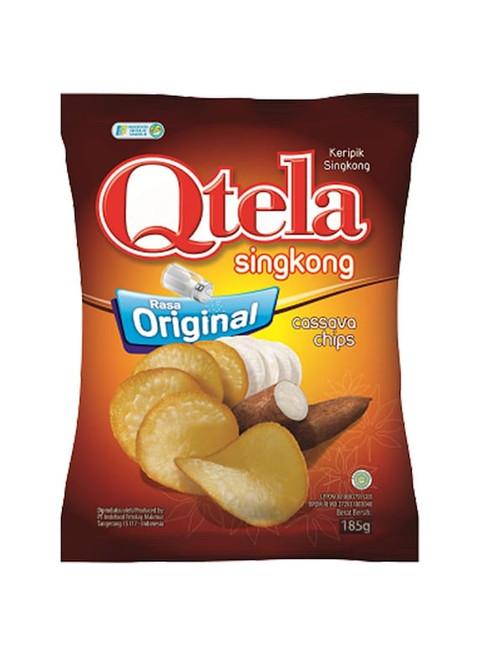 Qtela Keripik Singkong Original (Cassava Chips Original Flavor) 185G - 6.52 Oz