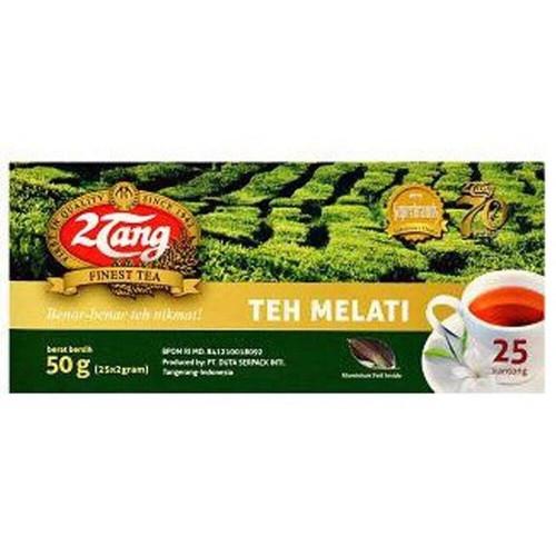 2tang (2 Tang) Teh Melati Jasmine Tea Bags 25-ct, 50 Gram Indonesia