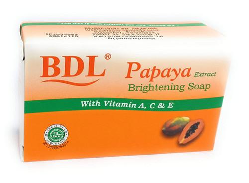 BDL Brightning Soap with Papaya Extract (Pepaya), 60 Gram