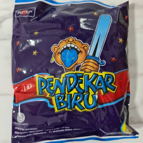 Pendekar Biru Lolipop Candy Indonesian, 125 Gram