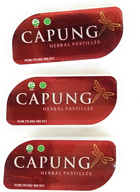 Capung Herbal Pastilles 7 Gram, 3 Slide Box