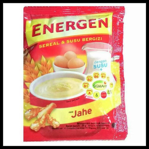 Energen Cereal and Ginger Nutritious Milk 29 gr (1.02 oz)