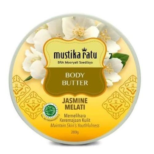 Mustika Ratu Body Butter Jasmine Melati Cream Lotion, 200 Gram