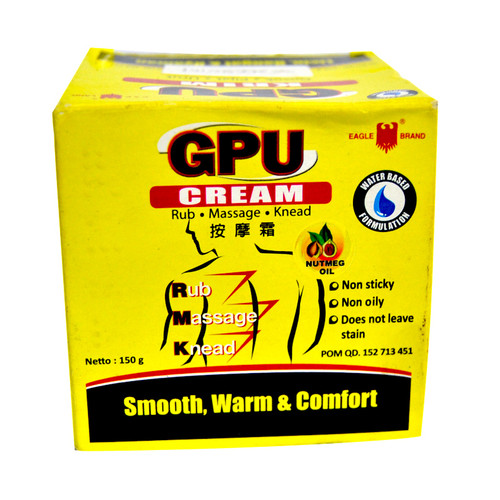 Cap Lang Eagle Brand GPU Cream with Nutmeg Oil, 150 Gram