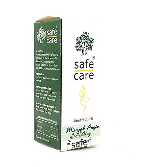 Safe Care Roll on Refreshing Oil Aromatherapy, 5 Ml
