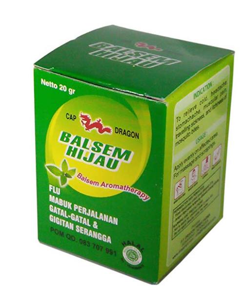 Dragon Balsem Gosok Hijau Green Balm, 20 Gram