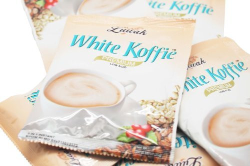 Luwak Brand White Koffie Single Pack 20 Gram ( 10 Sachets)