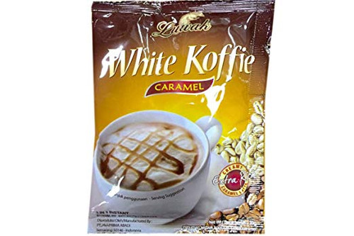 White Koffie 3 in 1 Instant Coffee (Caramel) - 0.67oz (Pack of 10)