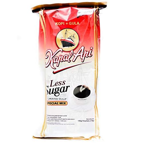 Kapal Api Less Sugar Special Mix, 190 Gram