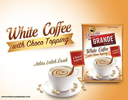 Kapal Api Grande White Coffee with Choco Topping , 20 Gram (10 Sachets)