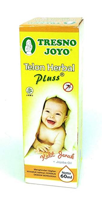 Tresno Joyo Minyak Telon Oil Herbal Plus - Orange Peel, 60 Ml (2 Fl Oz)