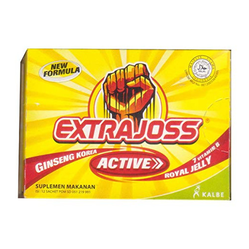Extra Joss Active Energy Drink Powder, 2 Pack (2 x 12 Sachets @4gr)