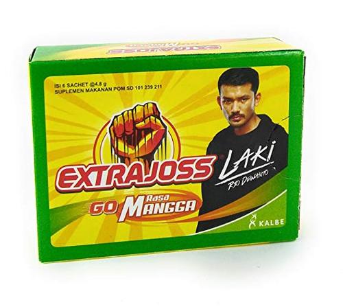 Extra Joss Go Mangga (Mango) Energy Drink Powder 6 x 4.8gr (1 Pack)