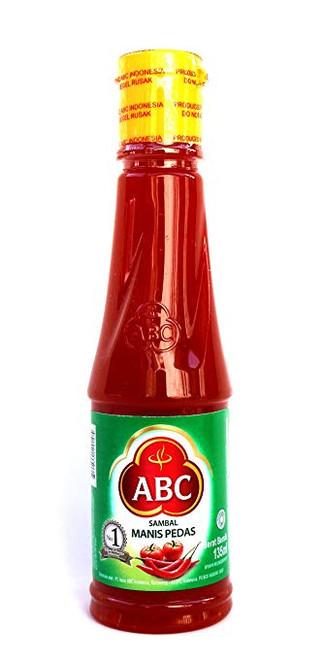 ABC Sambal Manis Pedas (Hot & Sweet Sauce), 135 Ml (Pack of 3)