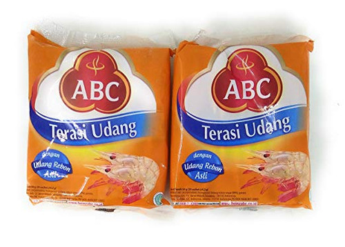 ABC Terasi Udang single-use type 20 x 4.2g, 84 Gram (Pack of 2)