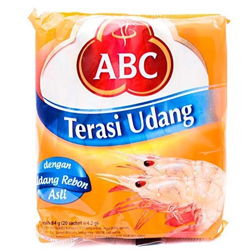 ABC Terasi Udang single-use type 20 x 4.2g, 84 Gram (Pack of 2)